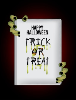 Night happy halloween book background.