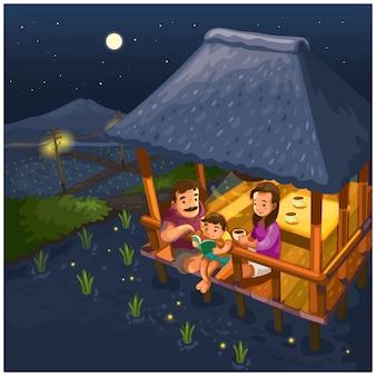 Ночь в рисовых полях