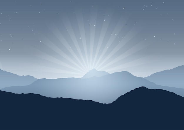 Night landscape background