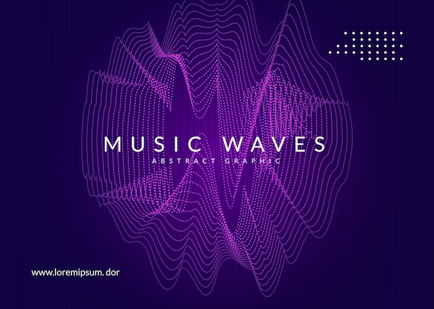 Night music. dynamic fluid shape and line background