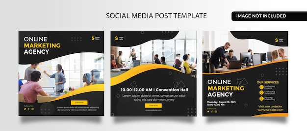Night music party design for social media promotion