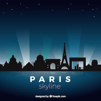 Ночной парижский горизонт