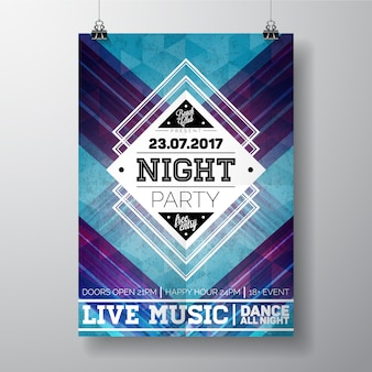 Night party poster template