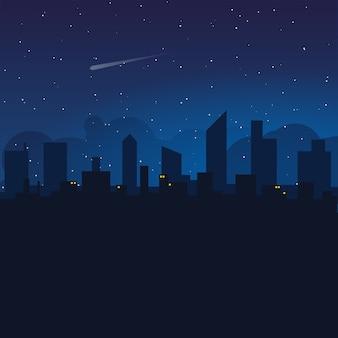 Night sky over city