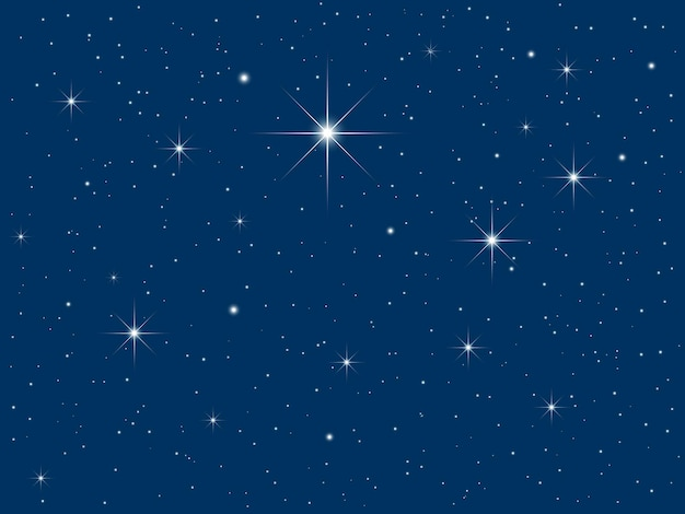 Cielo notturno pieno di stelle scintillanti