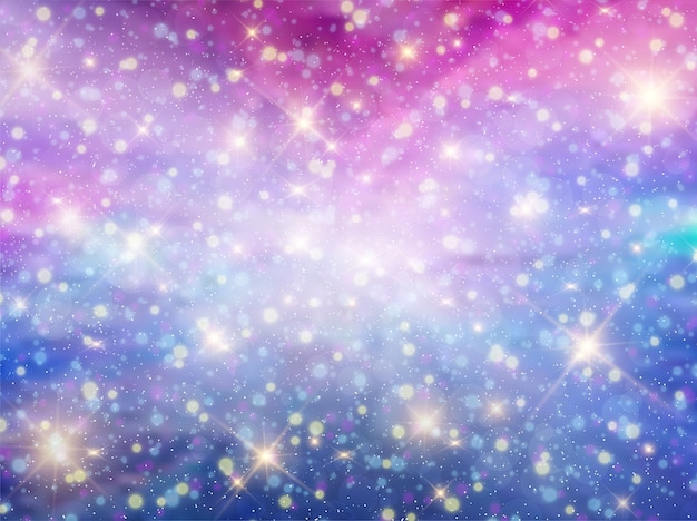 Night sky pastel fantasy galaxy  background