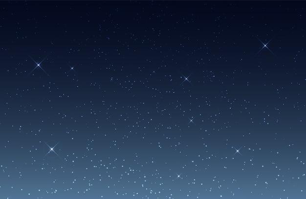 輝く星と夜空