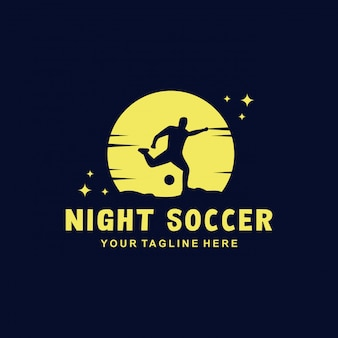 Night soccer logo  template