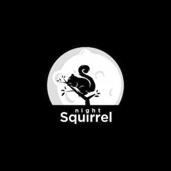 Night squirrel logo
