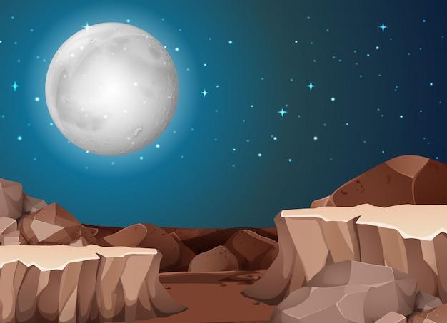 Ночная сцена пустыни