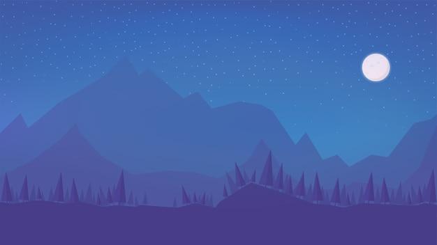 Ночной зимний пейзаж