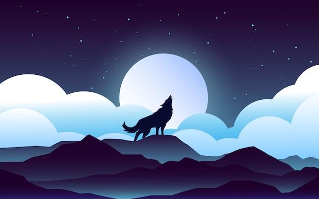 밤 늑대 조경 디자인