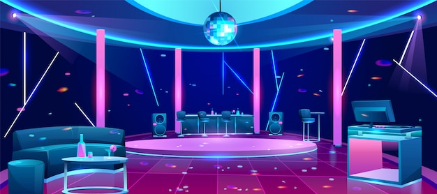 Nightclub dance floor illustration