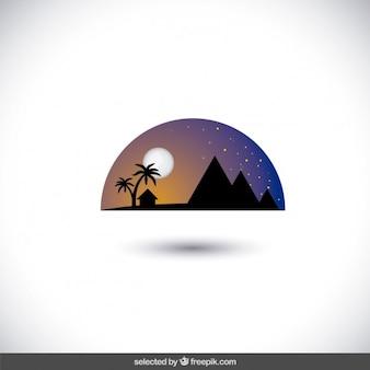 Nightfall egypt skyline