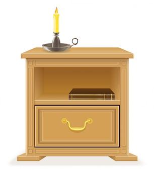 ナイトテーブルの家具。