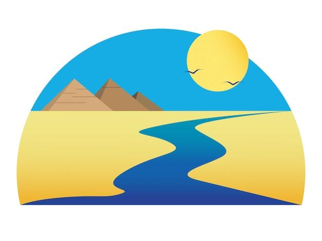 砂漠のナイル川