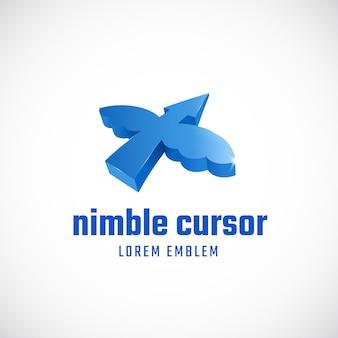Nimble cursor concept. abstract sign or logo
