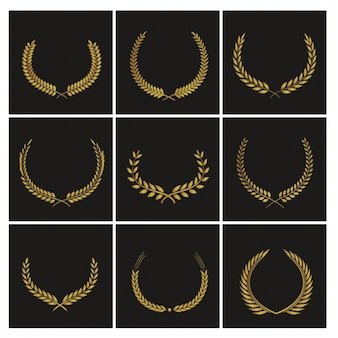 Nine badges for awards