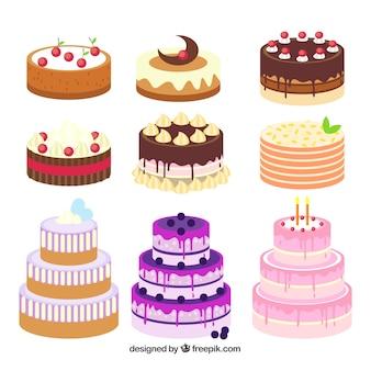 Девять летних тортов