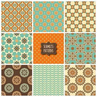 아홉 귀여운 민족 패턴
