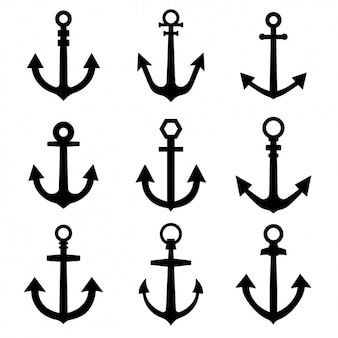 Nine different anchors