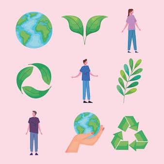 Девять экологически чистых иконок
