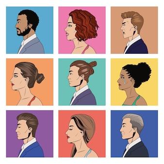 Девять элегантных человек