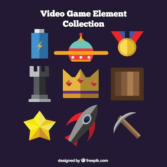 Nine flat objects for video games