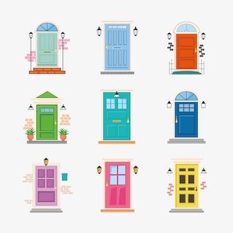9つの正面玄関