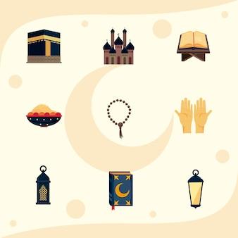 Nine hajj mabrour icons