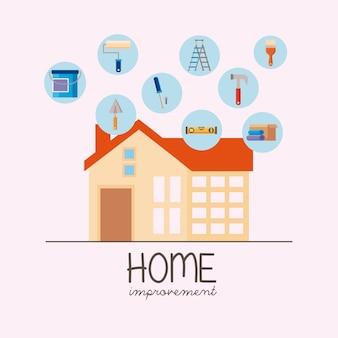 Nine home improvement set icons