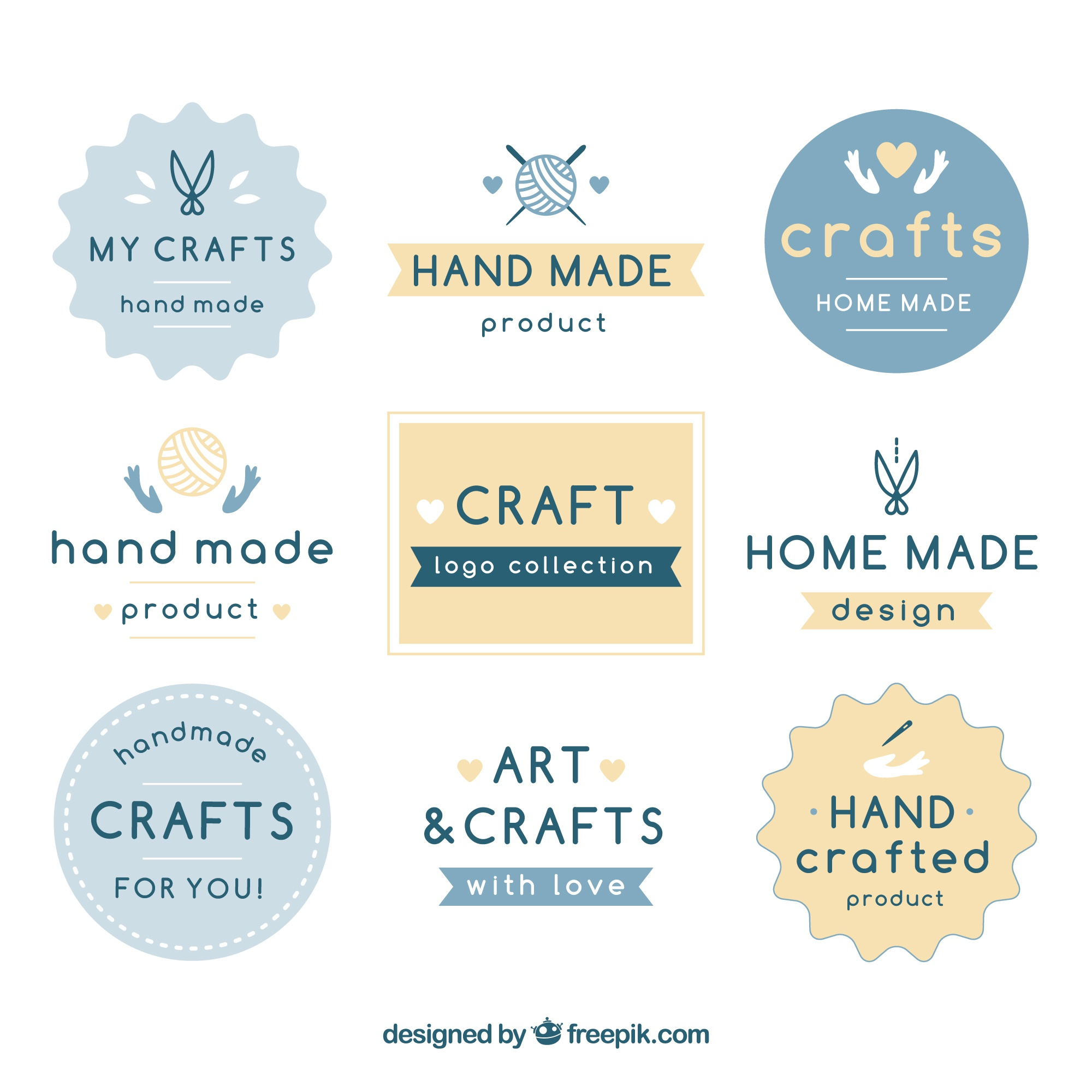 Nine logos for crafts