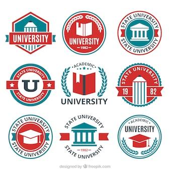 Nine logos for the university