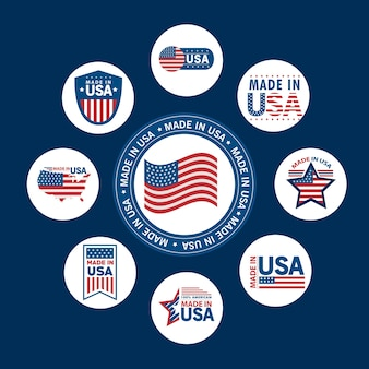Nine made in usa seals