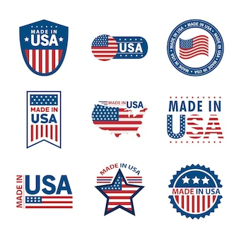 Nine made in usa set icons