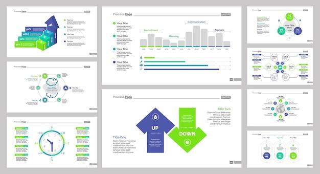 Nine management slide templates set