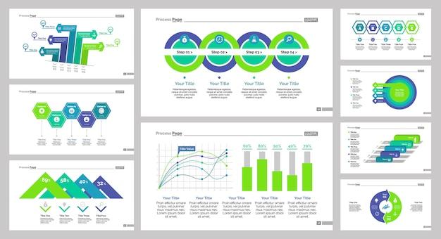 9 마케팅 차트 슬라이드 템플릿 세트