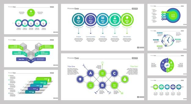 9 마케팅 슬라이드 템플릿 세트