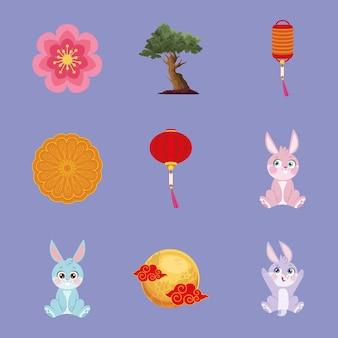 Девять иконок фестиваля луны