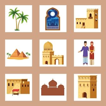 Nine muslim culture elements