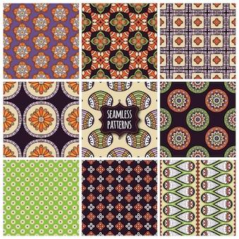 장식 요소가있는 9 가지 패턴