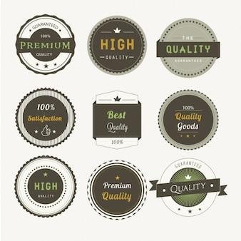 Nine premium badges
