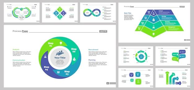 Nine production slide templates set