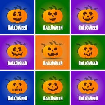 Nine pumpkins for halloween