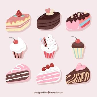 9 개의 달콤한 생일 케이크