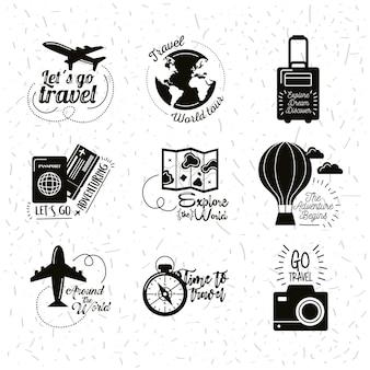 Девять туристических надписей