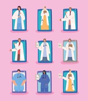 Nine virtual doctors