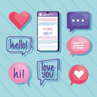 Девять виртуальных иконок отношений