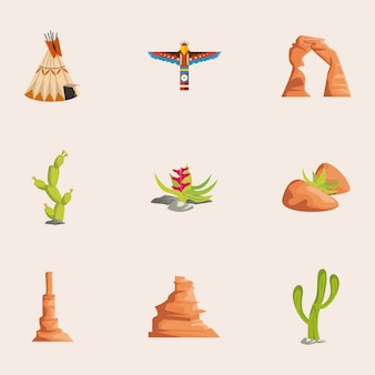 9つの西の要素セット