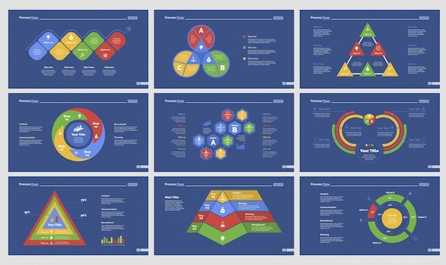 Set di modelli di diapositive di nove flussi di lavoro